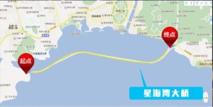星海大橋の地図